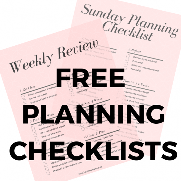 Sunday planning checklist image